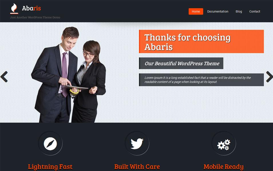 Abaris Free Portfolio WordPress Theme