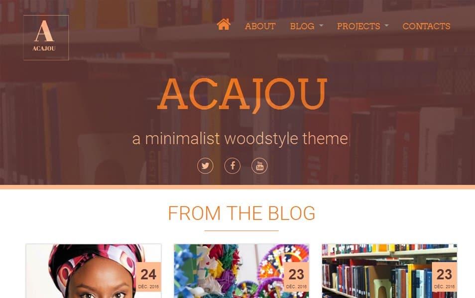 Acajou Responsive WordPress Theme