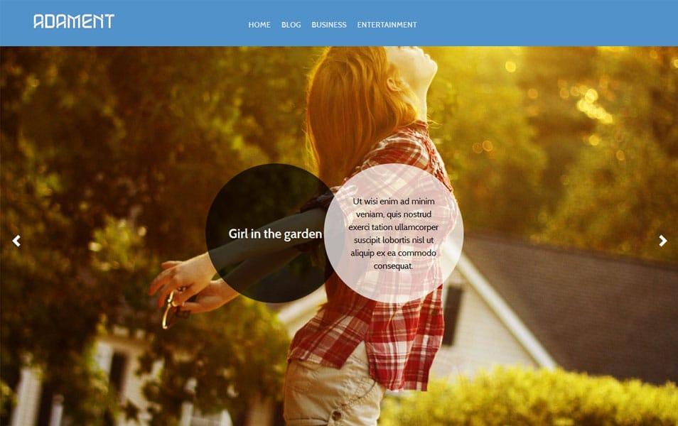 Adament Free Photography WordPress Theme