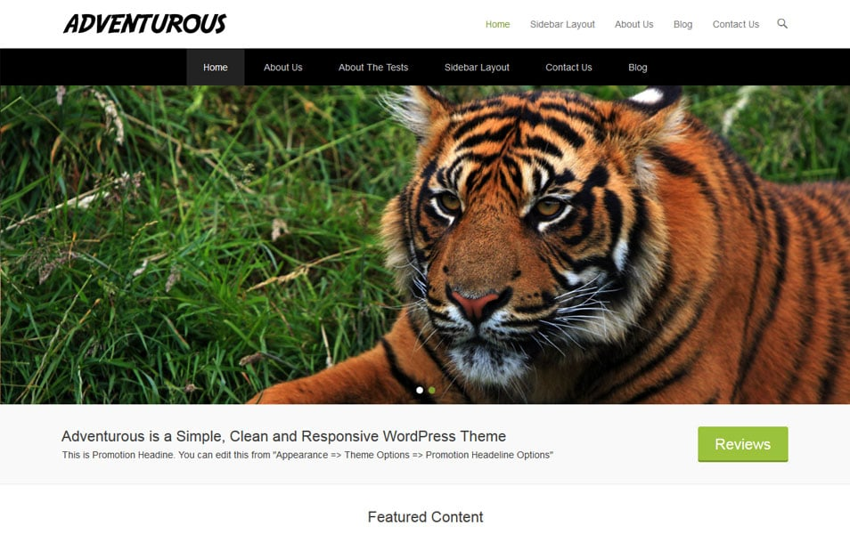 Adventurous WordPress Theme