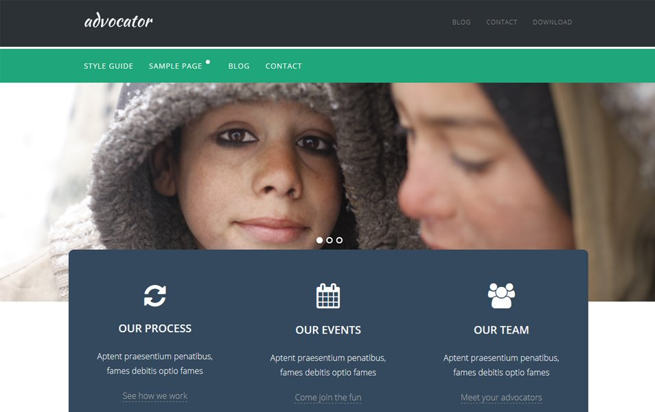 Advocator Lite Responsive WordPress Theme