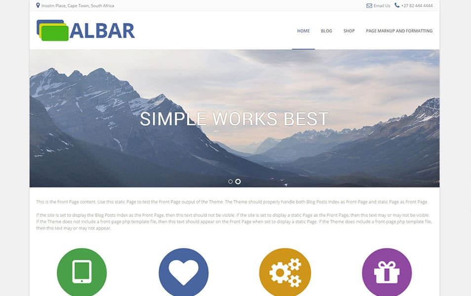 Albar Free Portfolio WordPress Theme