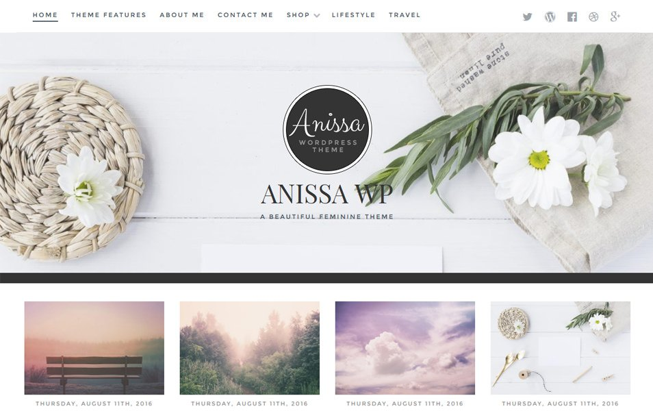 Anissa Responsive WordPress Theme