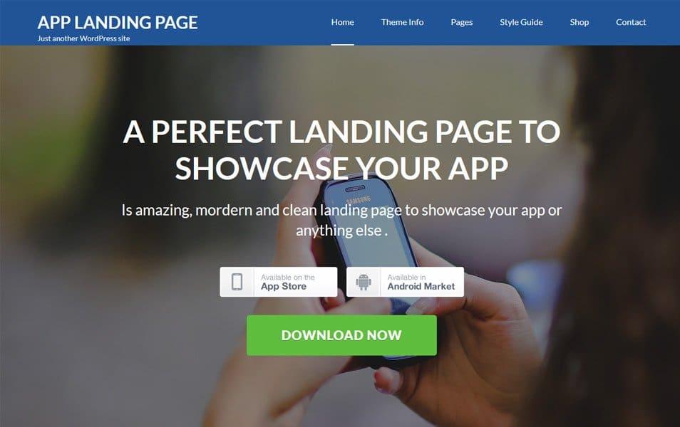 App Landing Page Responsive WordPress Theme