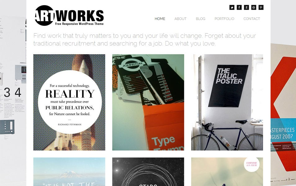 Art Works Free Photography WordPress Theme