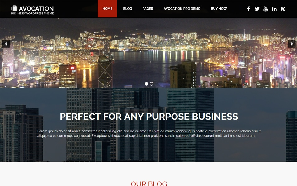 Avocation Responsive WordPress Theme