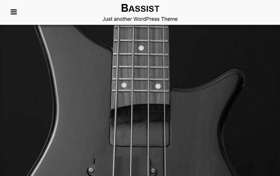 Bassist Responsive WordPress Theme