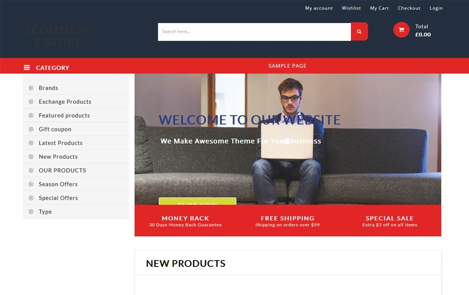 BB Ecommerce Store Responsive WordPress Theme