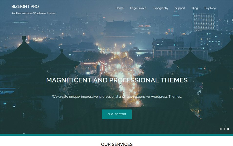 Bizlight Responsive WordPress Theme