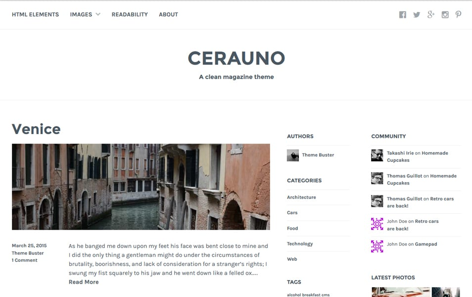 Cerauno Responsive WordPress Theme