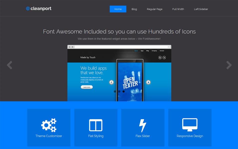 CleanPort-Lite Free Portfolio WordPress Theme