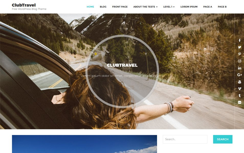 ClubTravel Responsive WordPress Theme
