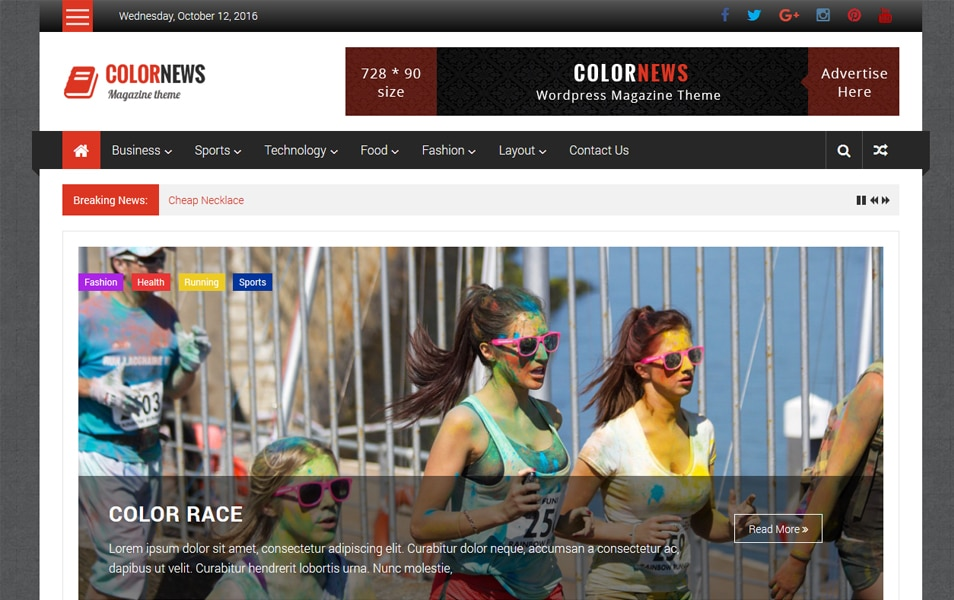 ColorNews Responsive WordPress Theme