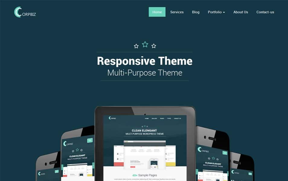 Corpbiz Free Portfolio WordPress Theme