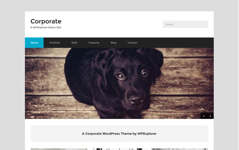 Corporate Free Business WordPress Theme