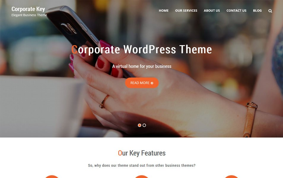 Corporate Key Responsive WordPress Theme