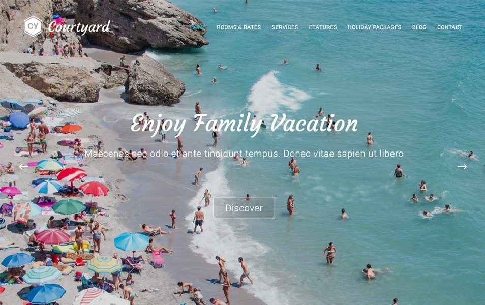 Courtyard Responsive WordPress Theme
