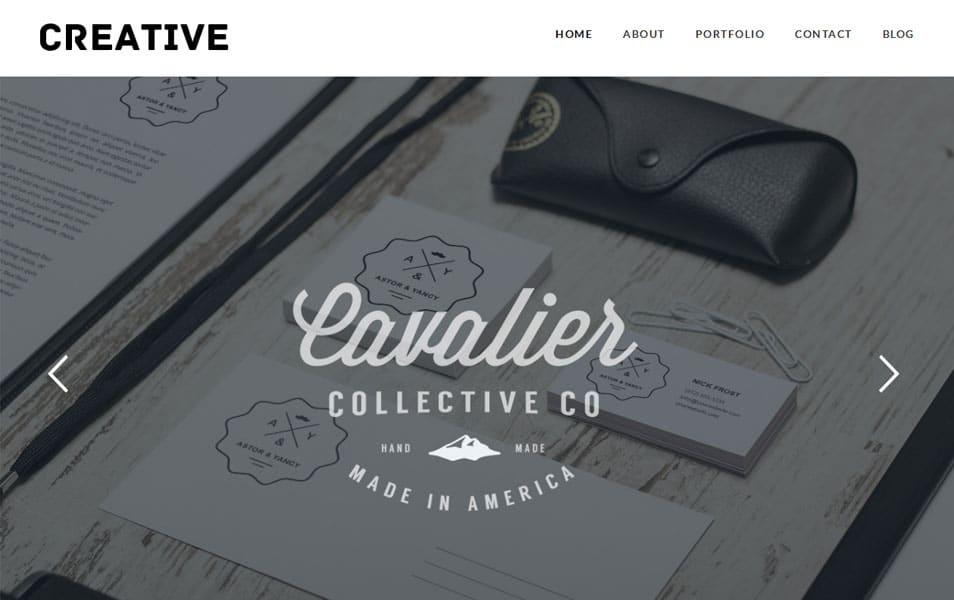 Creative Free Portfolio WordPress Theme
