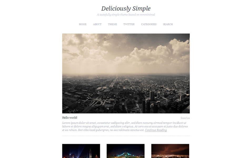 Deliciously Simple Free Portfolio WordPress Theme