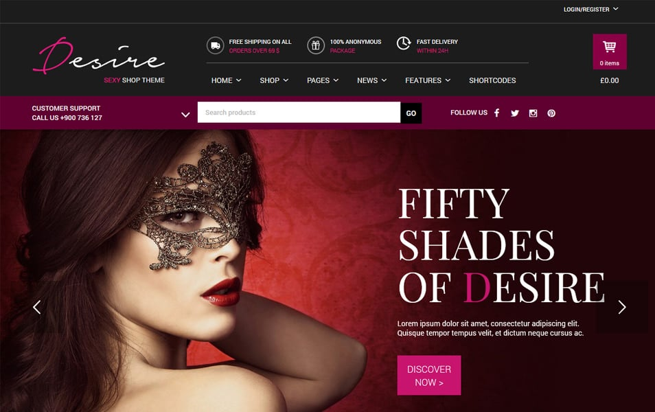 Desire Sexy Shop Responsive WordPress Theme