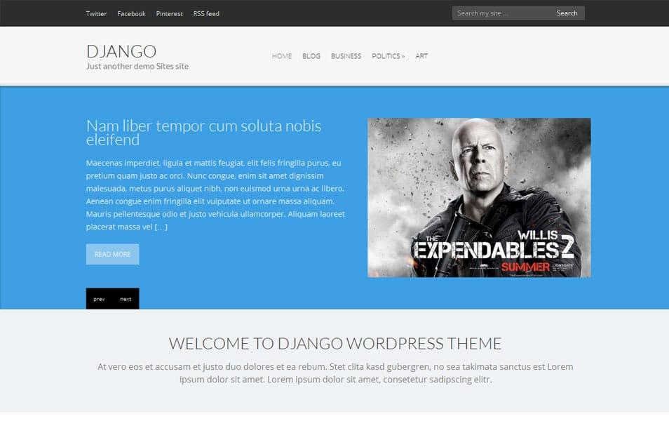 Django Free Portfolio WordPress Theme