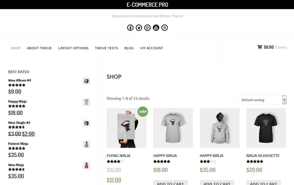 E-Commerce Responsive WordPress Theme