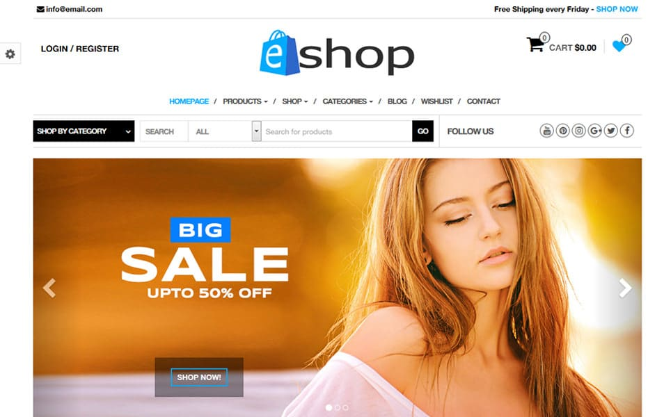 E-Shop WooCommerce WordPress Theme