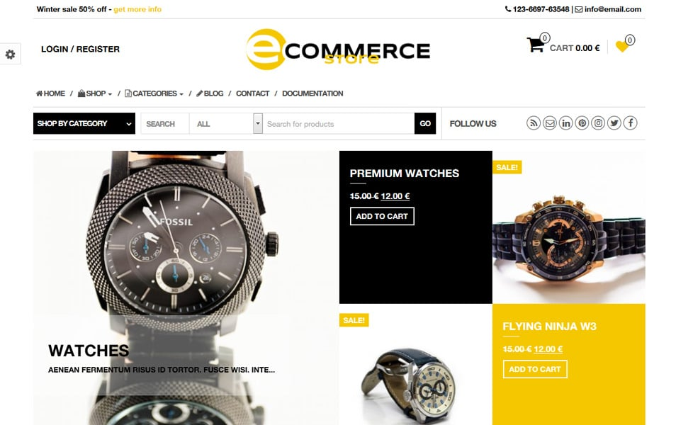 eCommerce Store Responsive WordPress Theme
