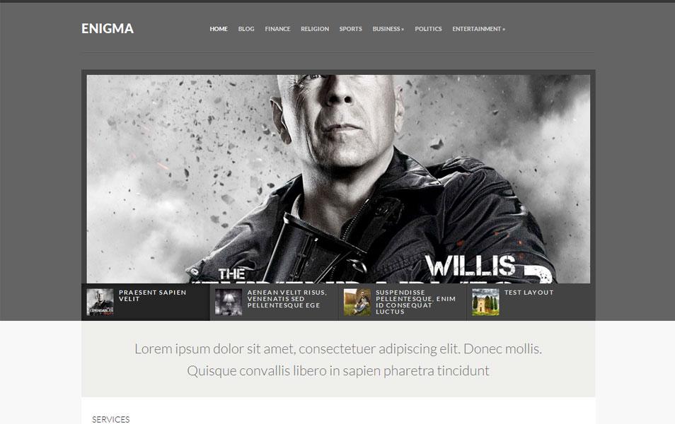 Enigma Free Portfolio WordPress Theme