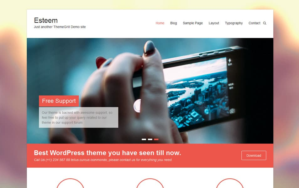 Esteem Free Portfolio WordPress Theme