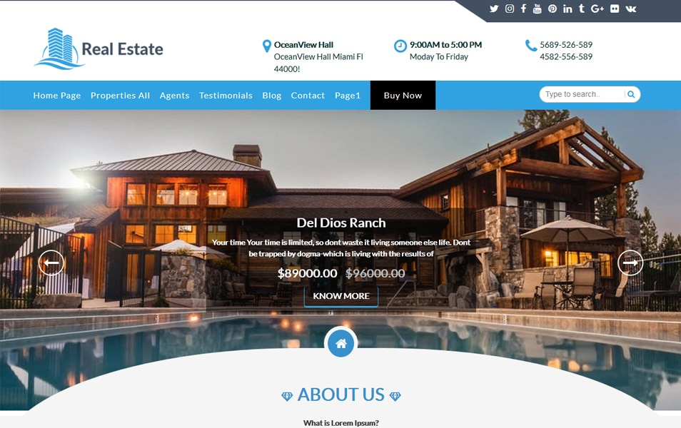 Free Construction Realestate WordPress Theme