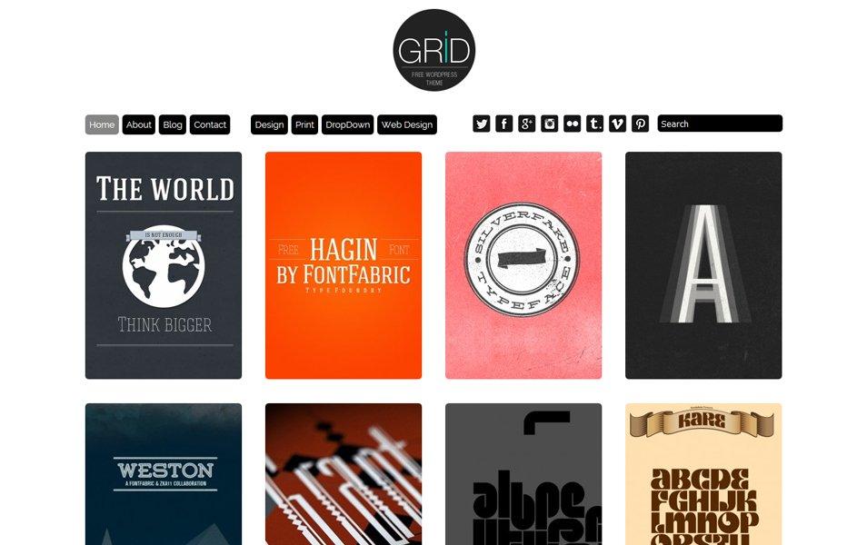 Free Grid Theme