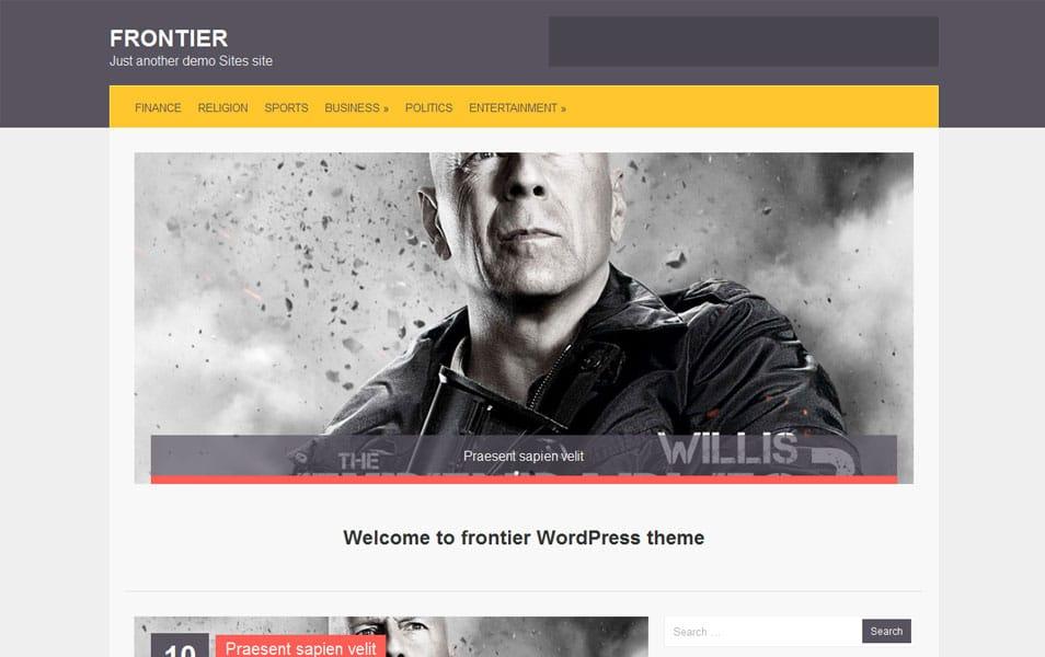 Frontier Free Portfolio WordPress Theme