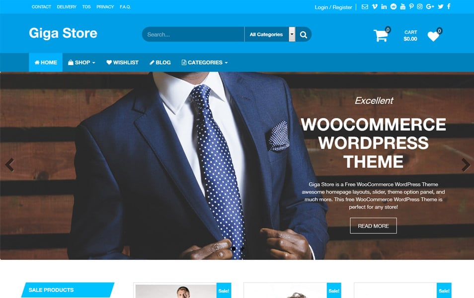 Giga Store Free Responsive WooCommerce Theme