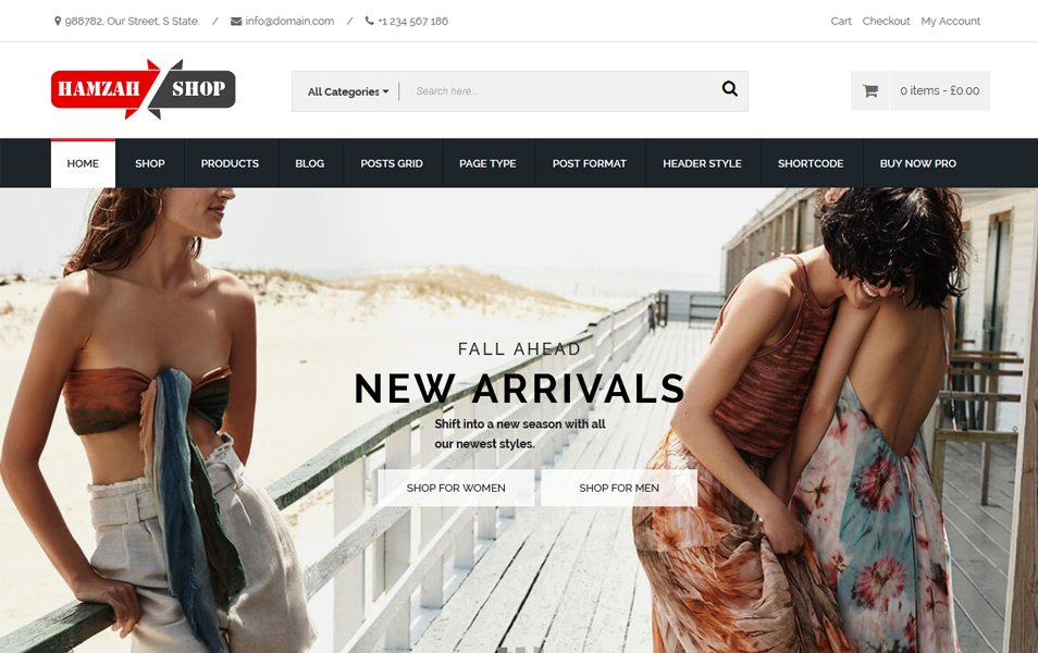 HamzahShop Responsive WordPress Theme