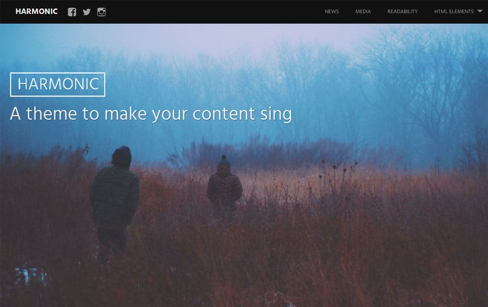 Harmonic Free Photography WordPress Theme