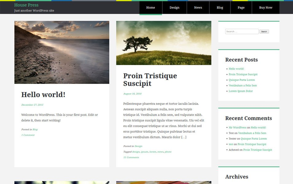 House Press Responsive WordPress Theme