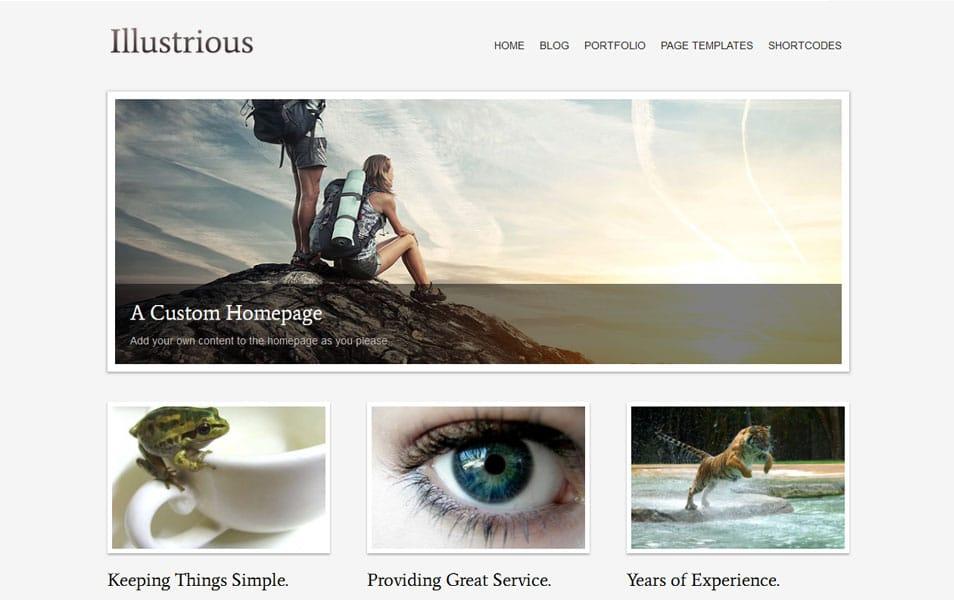 Illustrious Free Portfolio WordPress Theme