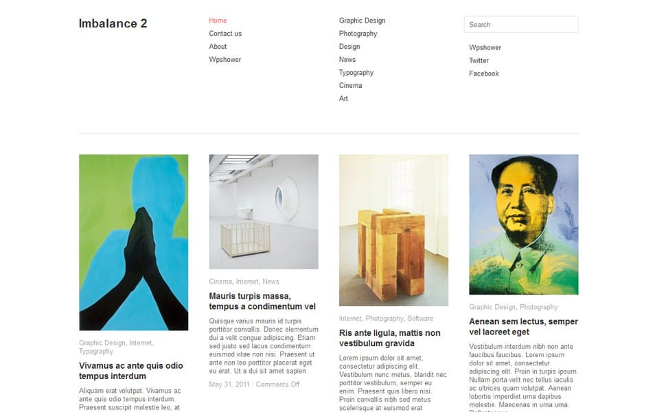Imbalance 2 Free Portfolio WordPress Theme