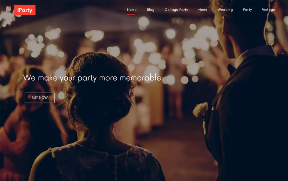 iParty Responsive WordPress Theme