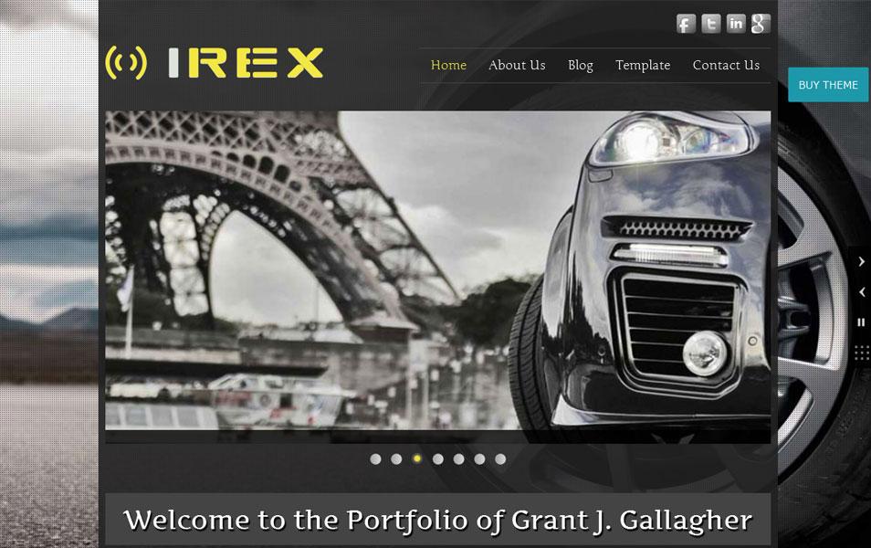 Irex Lite Free Portfolio WordPress Theme