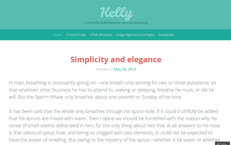 Kelly Free Photography WordPress Theme