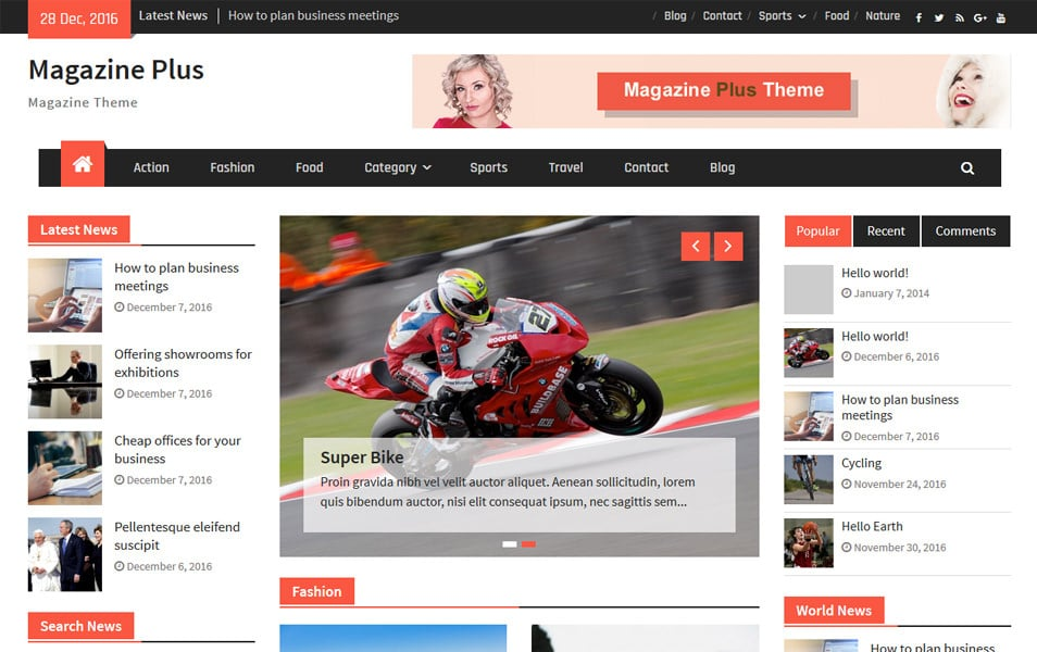 Magazine Plus Responsive WordPress Theme