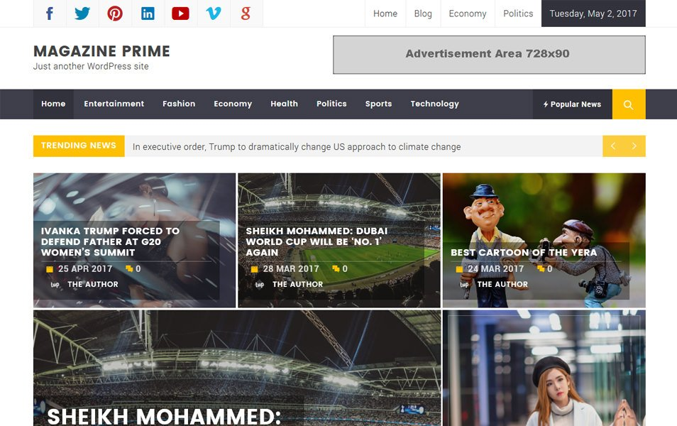 Magazine Prime Responsive WordPress Theme
