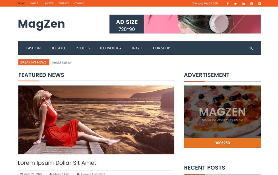 MagZen Responsive WordPress Theme