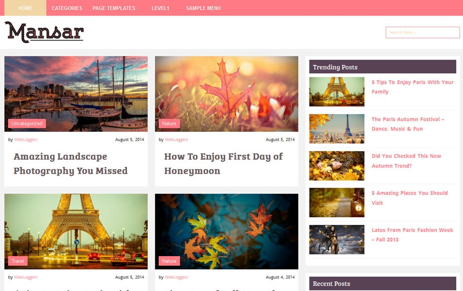 Mansar – Free WordPress Blog/Magazine Theme