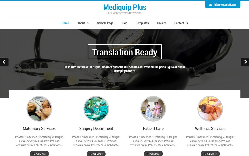 Mediquip Plus Responsive WordPress Theme