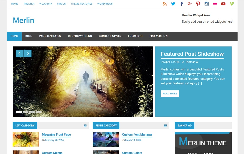 Merlin Responsive WordPress Theme