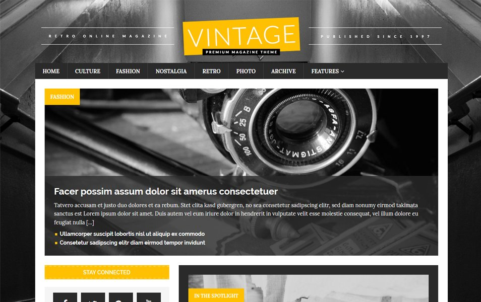 MH RetroMag Responsive WordPress Theme