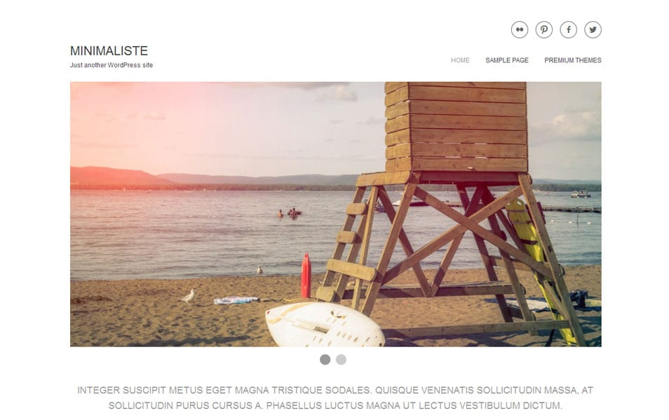 Minimaliste Free Photography WordPress Theme